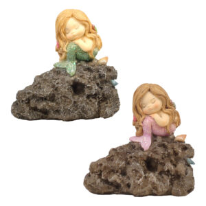 Mermaid Sleeping on Rock - Large
