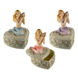 Mermaid Trinket Box - Heart