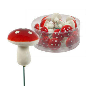 Mushroom Stem - Large - Red - Box of 20