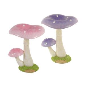 Mushroom Twin - Glitter 15cm - Pink & Lilac