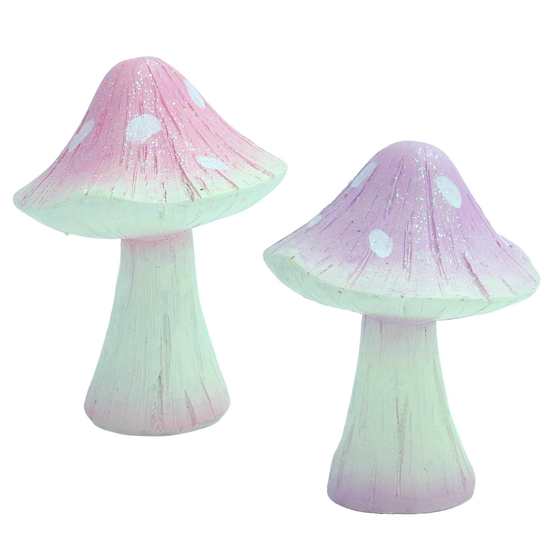 Mushroom - Glitter 13.5cm - Pink & Lilac