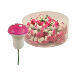 Mushroom Stem - Small - Dark Pink - Box of 100