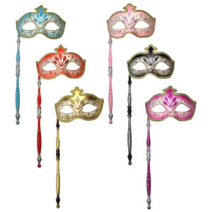 Venetian Masquerade Mask with Holder