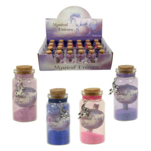 Mystical Unicorn Wishes Jar w/Charm