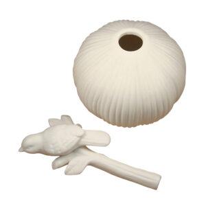 Neutral Decor - White Ceramic Bird Oil Diffuser